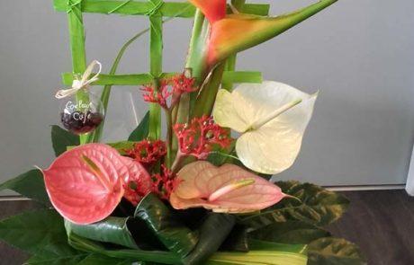 Composition florale Fleurs des îles D'Fleurs Fontenay-le-Comte Vendée