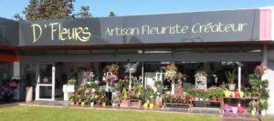 Extérieur du magasin D Fleurs, fleuriste à Fontenay-le-Comte en Vendee