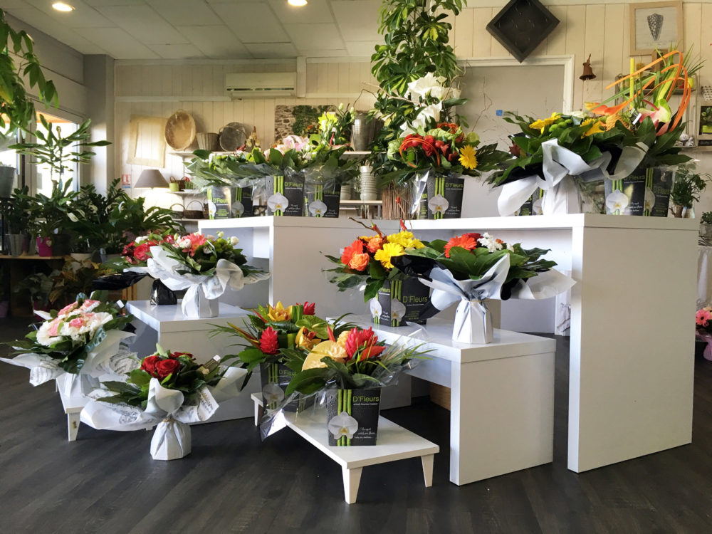 Commande de fleurs et compositions par téléphone