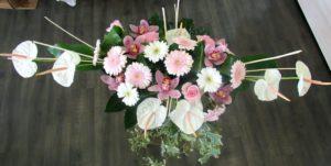 Centre table mariés d'fleurs fleuriste Fontenay le Comte