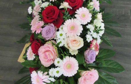 Raquette deuil D'Fleurs, fleuriste à Fontenay-le-Comte en Vendee