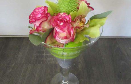 Composition florale - Cocktail orchidée - D'Fleurs Fontenay-le-Comte Vendée