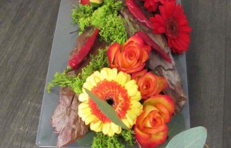 Composition florale - Ecorce - D'Fleurs Fontenay-le-Comte Vendée